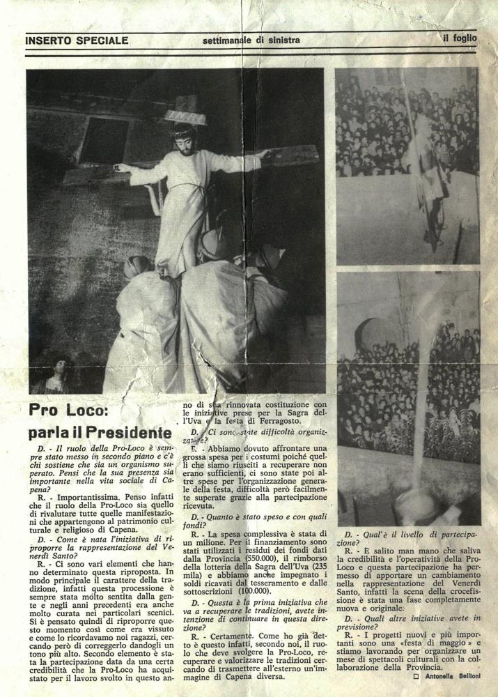 Capena 1980, una Via Crucis da ricordare per sempre (2/2)